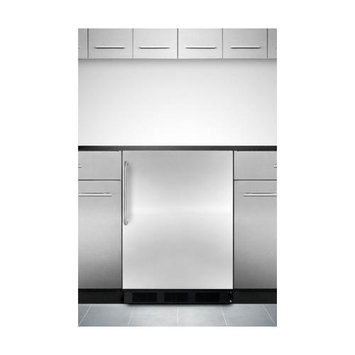 Summit Appliance 5.1 cu. ft. Mini Refrigerator in Stainless Steel CT66BBISSTB