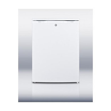 Summit Appliance 4.4 cu. ft. Upright Freezer in White with Lock FSM50LES