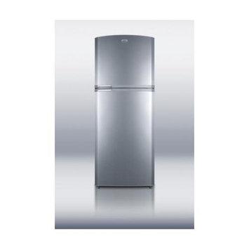 Summit Appliance 13.02 cu. ft. Top Freezer Refrigerator in Platinum, Counter Depth FF1426PL
