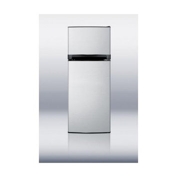 Summit Appliances FF1374SS 11.9 cu. ft. frost-free refrigerator-freezer with black cabinet and stainless steel doors