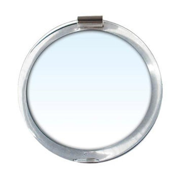 Rucci Compact Plain Mirror with 7X Magnifying Reading Lens Cover #M845 - Vanity Mirrors