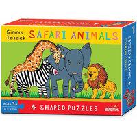 Briarpatch Simms Taback - 4 Safari Puzzles: 40 Pcs