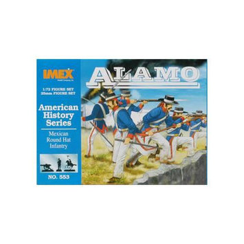 Imex 553 1/72 Round Hat Infantry Alamo Multi-Colored