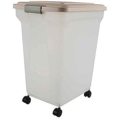 IRIS Premium Airtight Pet Food Storage Container - Almond - 15 quart