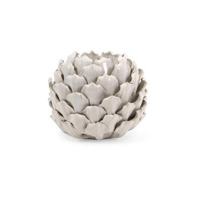 Cc Home Furnishings White Tall Artichoke Ceramic Candle Holder 7