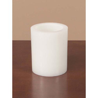 Cc Home Furnishings Pack of 6 White Battery Operated Flameless LED Wax Pillar Candles 5