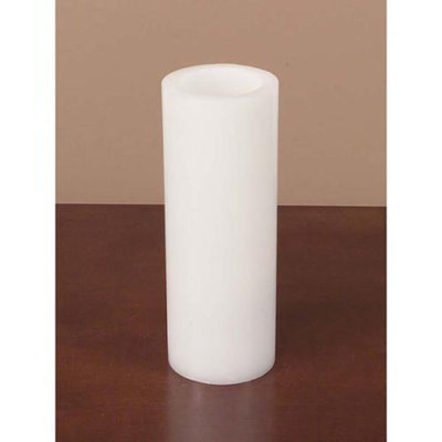 Cc Home Furnishings Pack of 6 Winter Frost White Flameless LED Wax Christmas Pillar Candles 8