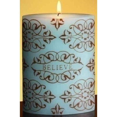 Roman Pack of 4 Blue and Brown Damask