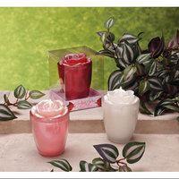 Cc Home Furnishings Pack of 6 Garden Party Rose Scented Filled Glass Candles