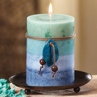 Cc Home Furnishings Pack of 4 Naturals Harmony Soothing Aromatherapy Pillar Christmas Candles 4