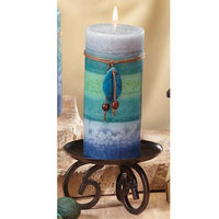 Cc Home Furnishings Pack of 4 Naturals Harmony Soothing Aromatherapy Pillar Christmas Candles 6