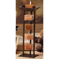 Cc Home Furnishings Pack of 6 Naturals Harmony Aromatherapy Earth Tone Rope Candles