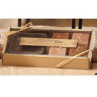 Cc Home Furnishings 4 Naturals Harmony Scented Aromatherapy Square Candles and Holder Gift Sets