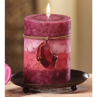 Cc Home Furnishings Pack of 4 Naturals Harmony Relaxation Aromatherapy Rose Pink Pillar Candles 4