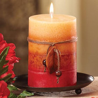 Cc Home Furnishings Pack of 4 Naturals Harmony Tranquility Aromatherapy Pillar Christmas Candles 4
