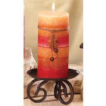 Cc Home Furnishings Pack of 4 Naturals Harmony Tranquility Aromatherapy Pillar Christmas Candles 6