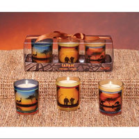 Cc Home Furnishings Pack of 18 Safari Serengeti Votive Candles - Jungle Nights Scented