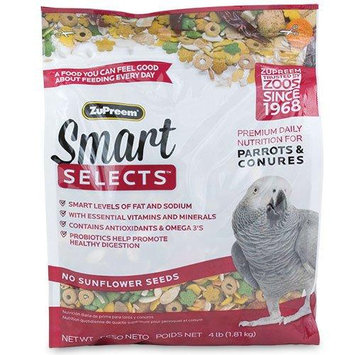 Premium Nutritional Products ZU33040 Smart Selects Parrot & Conure 4 lbs.