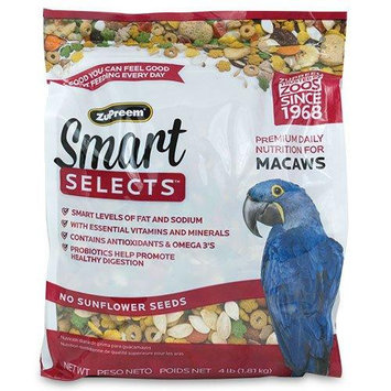 Premium Nutritional Products ZU34040 Smart Selects Macaws 4 lbs.