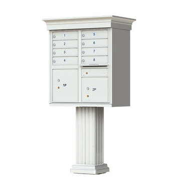 Florence Mailboxes Vogue Cluster Box Unit with Traditional CBU Accessories