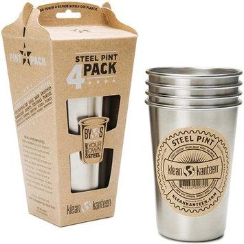 Klean Kanteen Stainless Steel Pint Cup, 4-pack
