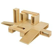 Early Childhood Resources ELR-0342 18 piece Hollow Block Set