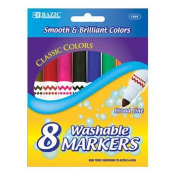 DDI 311134 BAZIC 8 Color Jumbo Premium Washable Markers