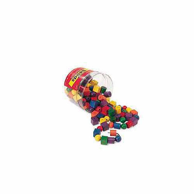 LEARNING RESOURCES LER0140 BEADS IN A BUCKET-108 BEADS 2 36 LACES