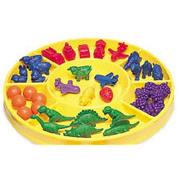 LEARNING RESOURCES LER0196 CIRCULAR SORTING TRAY-7 COMPARTMENTS