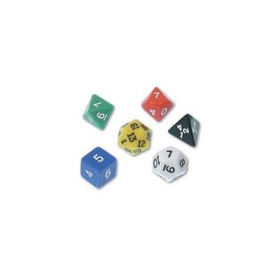 POLYHEDRA DICE SET SET OF 6 3042795 Learning Resources