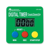 Learning Resources LER4339 Digital Timer Count DownUp