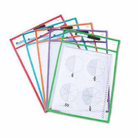 Learning Resources Write and Wipe Pocket (Set of 5)