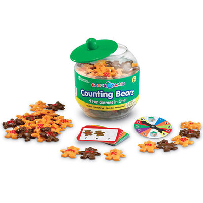 Learning Resources LER1180 Goodie Jar Games - Counting Bears