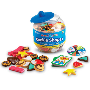 Learning Resources LER1181 Goodie Jar Games - Cookie Shapes