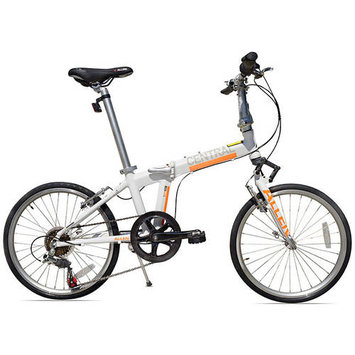 Allen Sports Central 7-Speed Aluminum Framed Folding Bicycle (White)