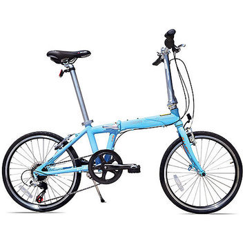 Allen Sports Urban X 7-Speed Aluminum Framed Folding Bicycle (Sky Blue)