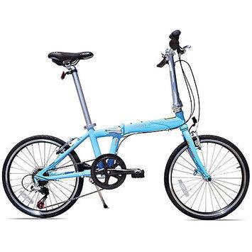 Allen Sports Urban X 7-Speed Aluminum Framed Folding Bicycle (Sky Blue)