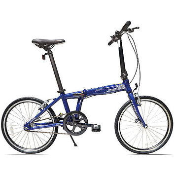 Allen Sports Urban 1-Speed Aluminum Framed Folding Bicycle (Blue)