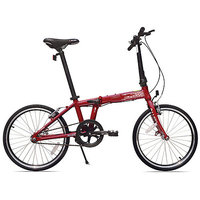 Allen Sports Urban 1-Speed Aluminum Framed Folding Bicycle (Red)