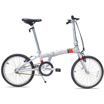 Allen Sports Downtown 1-Speed Aluminum Framed Folding Bicycle (Cool Grey)