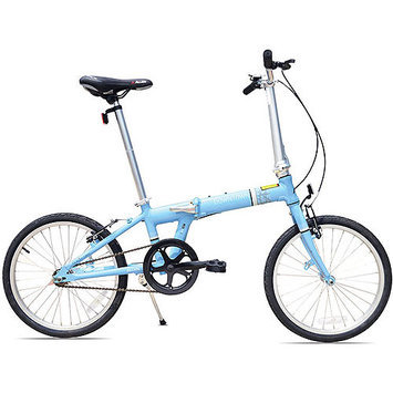 Allen Sports Downtown 1-Speed Aluminum Framed Folding Bicycle (Sky)