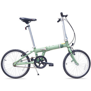 Allen Sports Downtown 1-Speed Aluminum Framed Folding Bicycle (Green)