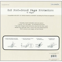 Colorbok Top Loading 2-Hole Page Protectors 8X8