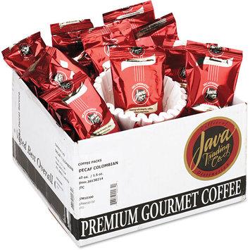 Java Trading Company Coffee Columbian Decaf Portion Packs, 1 1/2