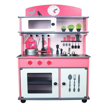 Merske Llc Berry Toys My Very Own Pink Wooden Play Kitchen