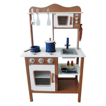 Merske Llc Berry Toys Espresso Modern Wooden Play Kitchen