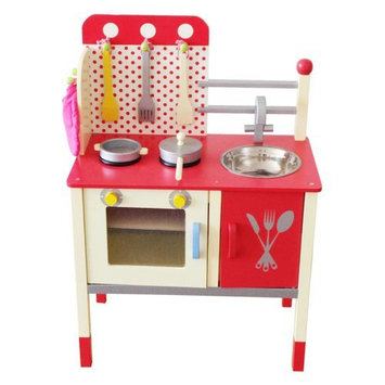 Merske Llc Berry Toys Cute and Fun Wooden Play Kitchen