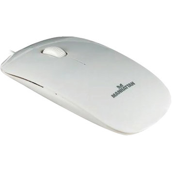 Manhattan Products Manhattan 177627 White Wired Optical Silhouette Mouse