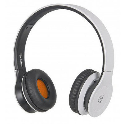 Manhattan 178150 Fusion Wireless Heaphones w/ Bluetooth 3.0 (White)