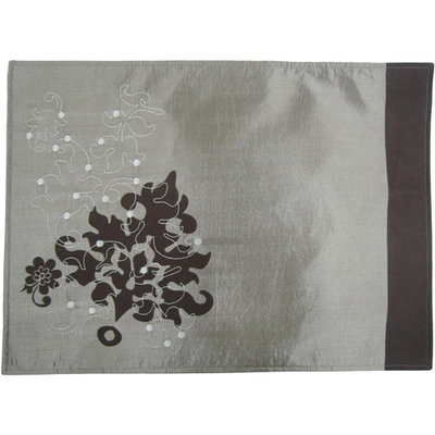 All Strong Usa Mainstays Embroidered Leaf Placemats, Set of 4